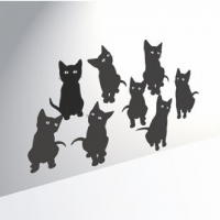 Наклейка девять( 9) котят