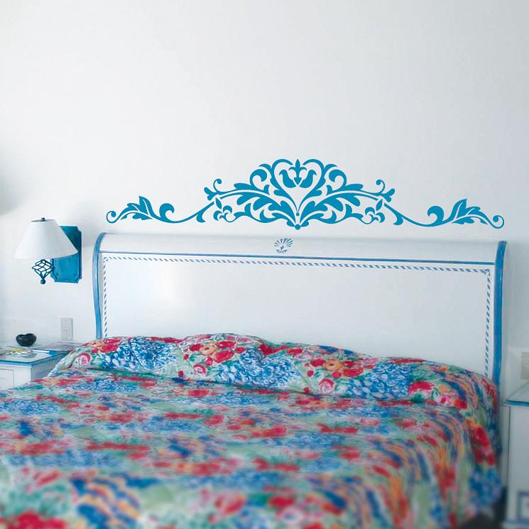 Узоры на стенах своими руками в спальне 25
