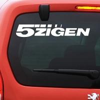виниловая наклейка на авто 5Zigen