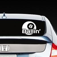 наклейки jdm на авто 8 Ballin
