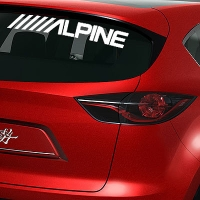 виниловая наклейка на авто Alpine