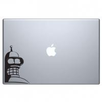 виниловая наклейка на macbook бэндер