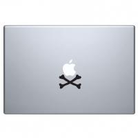 виниловая наклейка на macbook кости