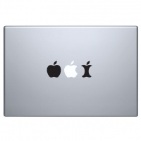 виниловая наклейка на macbook эволюция