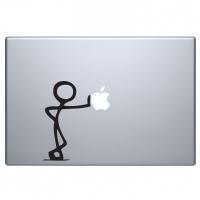 виниловая наклейка на macbook рисованный парень
