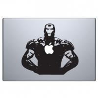 виниловая наклейка на macbook айрон мэн