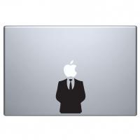 виниловая наклейка на macbook костюм человека