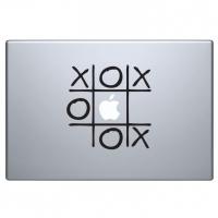 виниловая наклейка на macbook крестики нолики