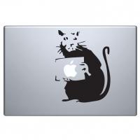 виниловая наклейка на macbook крыска