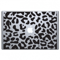 виниловая наклейка на macbook леопард шкурка