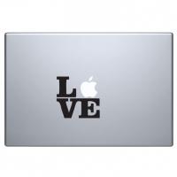 виниловая наклейка на macbook любовь