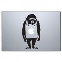 наклейка на macbook обезьяна