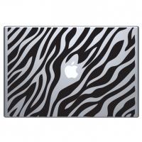 виниловая наклейка на macbook зебра шкурка