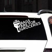 наклейки jdm на авто Bags Are For Groceries