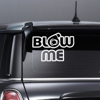наклейки jdm на авто Blow  Me