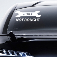 наклейки jdm на авто Built Not Bought