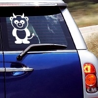наклейки jdm на авто Devil Panda