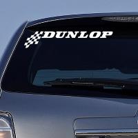 виниловая наклейка на авто Dunlop