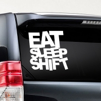 наклейки jdm на авто Eat Sleep Shift