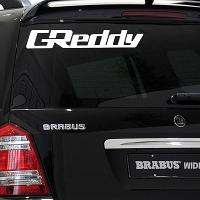 виниловая наклейка на авто GReddy