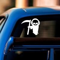 наклейки jdm на авто Grim Reaper