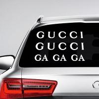 наклейки jdm на авто Gucci GA GA GA