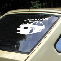 наклейки jdm на авто Hatchback Mafia 2