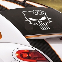 наклейки jdm на авто Hello Kitty Punisher Skull