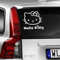наклейка на авто Hello Kitty цветок