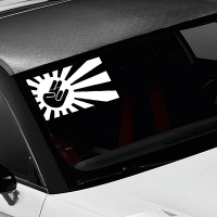 наклейки jdm на авто Japan Flag Rising Sun Shocker