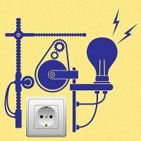 наклейки для розеток и выключателей Электрогенератор 1