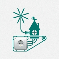 наклейки для розеток и выключателей Электрогенератор 3