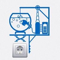 наклейки для розеток и выключателей Электрогенератор 4