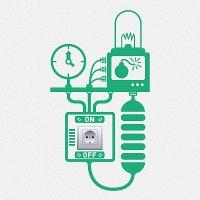 наклейки для розеток и выключателей Электрогенератор 5