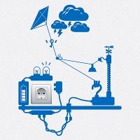 наклейки для розеток и выключателей Электрогенератор 7
