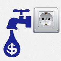 наклейки для розеток и выключателей Капля долар