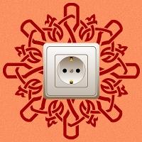 наклейки для розеток и выключателей Кельский узор 1