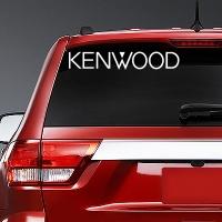 виниловая наклейка на авто Kenwood
