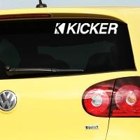 виниловая наклейка на авто Kicker