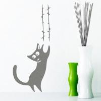 наклейки на стену Коктистая кошка