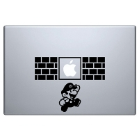наклейка на macbook Mario