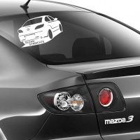 наклейка на авто Mazda Sedan Syndikat