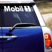 виниловая наклейка на авто Mobil 1