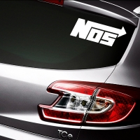 виниловая наклейка на авто NOS