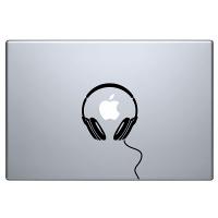 наклейка на macbook Наушники