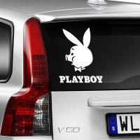 наклейка на авто PLAYBOY Пяточек