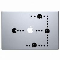 наклейка на macbook Pacman