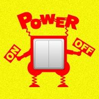 наклейки для розеток и выключателей Power on-off