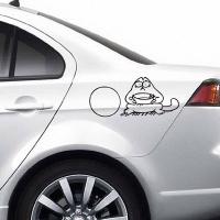 наклейка на авто Саймон с миской