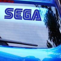 виниловая наклейка на авто Sega